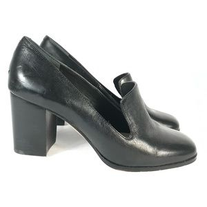 Enzo angiolini leather chunky heels